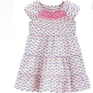 Carters geoprint tiered dress
